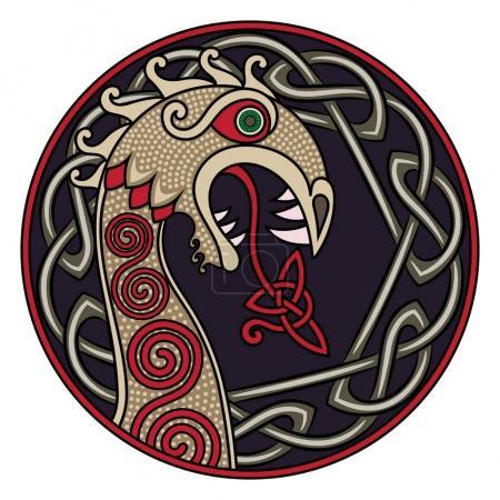 Scandinavian design. The nasal figure of the Vikin...