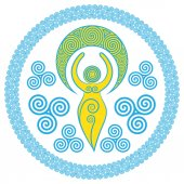 Ancient Spiral Goddess: This delicate Goddess represents the creative powers of the Divine Feminine and the never ending circle of creation