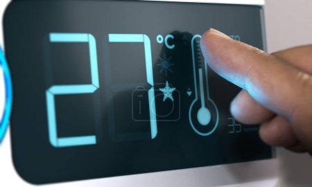 Air Conditioner Temperature Control, Degree Celsius. Home Automa