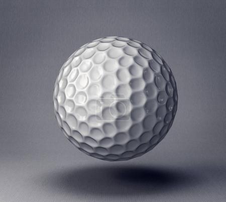golf ball isolated on grey