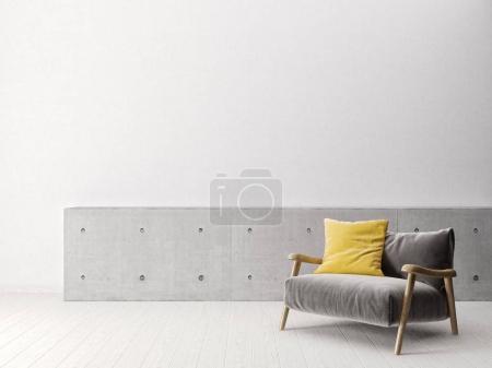 Photo for Modern scandinavian  interior.  3d render. high resolution - Royalty Free Image