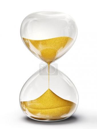 hourglass 3d illustration