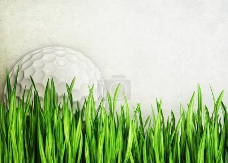 green grass against golf ball