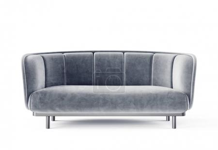 Photo for 3d render of one grey sofa isolated on white background - Royalty Free Image