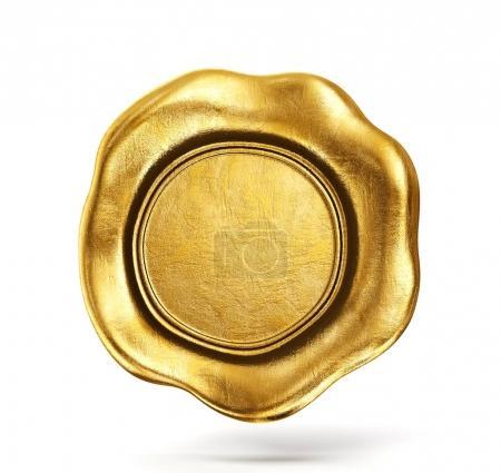 golden wax seal