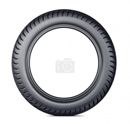 black tire isolated on a white. 3d illustration