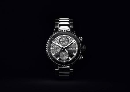Wrist watch on black. 3d illustration.