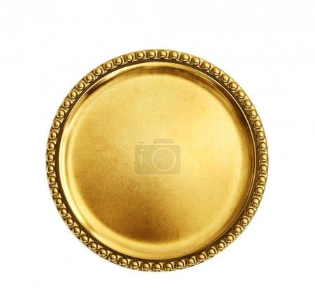 Gold coin without sign isolated on white.