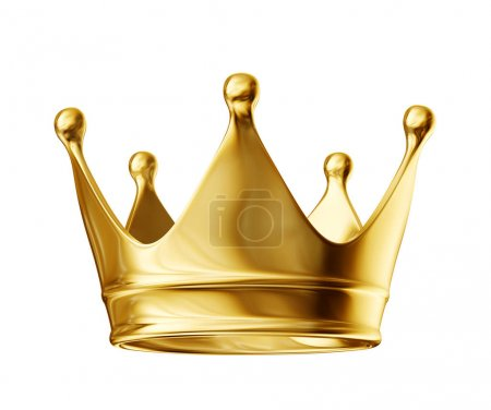golden crown isolated on a white background. 3d illustration