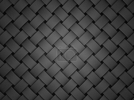 black fiber texture. close up 3d illustration