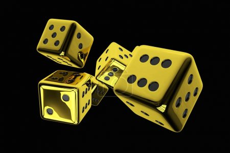 Shiny Golden Casino Dices