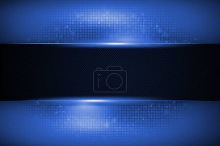 Photo for Copy Space Shiny Blue Banner Illustration. - Royalty Free Image