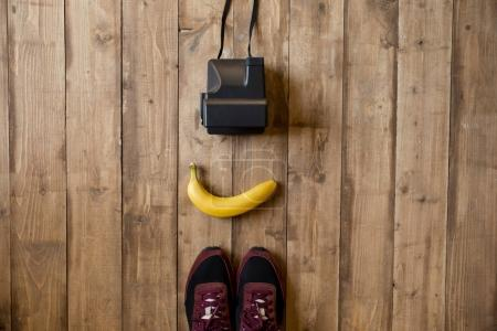 Banana and instant camera