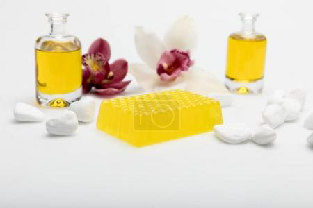 Honey soap with orchids and oil