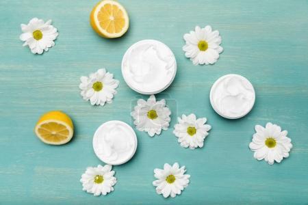 Chamomiles and organic cream