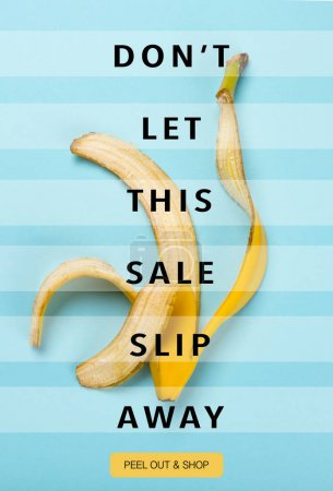 Sale banner with banana