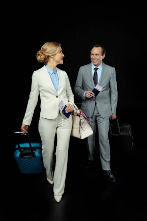 businesspeople ready to trip