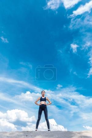 Beautiful slim asian sportswoman
