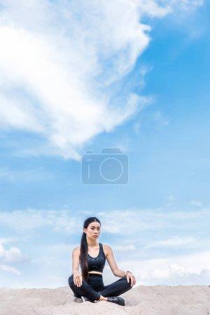 attractive asian sportswoman