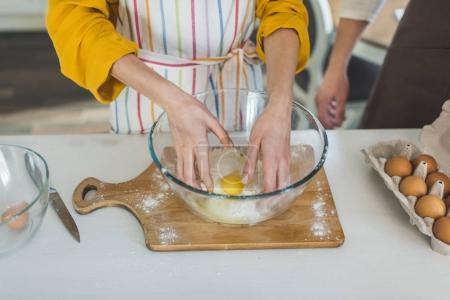 couple making dough