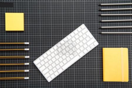 Keyboard and office supplies