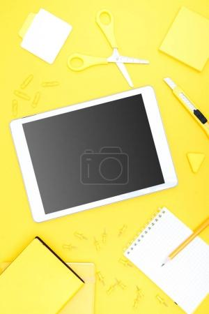 Digital tablet and office supplies