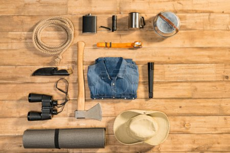 Traveler set, flat lay
