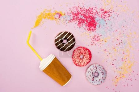 Food styling with donuts
