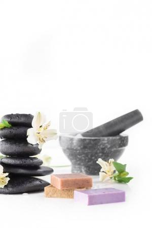 Zen stones and handmade soap