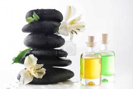 Zen stones and essential oils