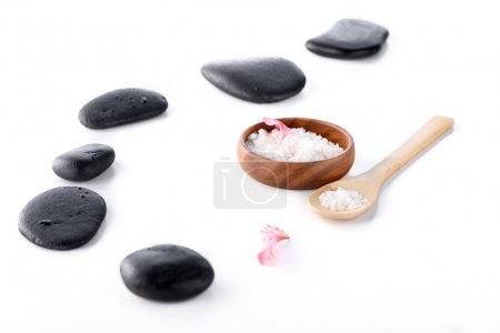 Sea salt and spa stones