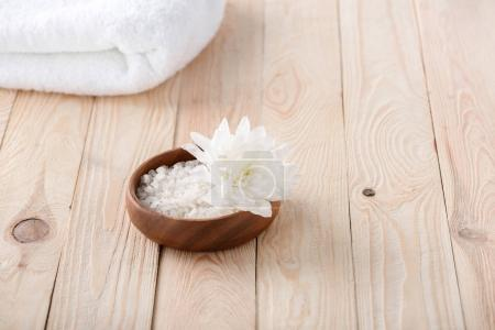Flower and sea salt