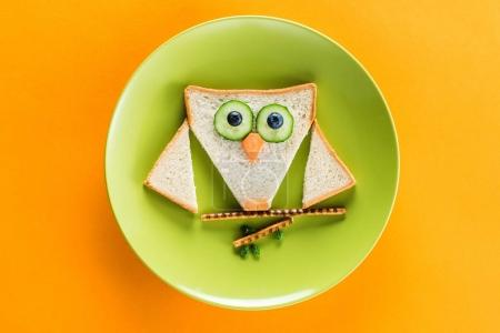 Funny breakfast for child