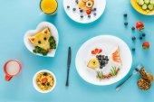 """Постер, картина, фотообои """"Творчески оформленный детский завтрак"""""""
