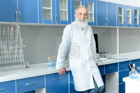 Senior bearded scientist