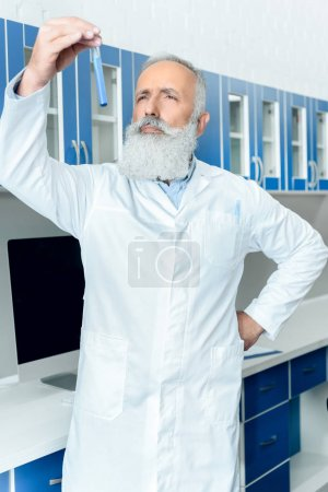 Senior bearded scientist