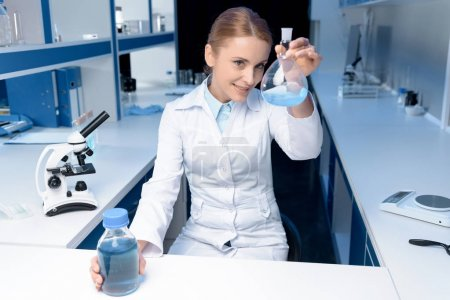 scientist working with reagent