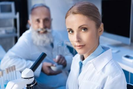 scientists working at laboratory