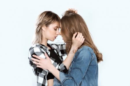 Beautiful young lesbian couple