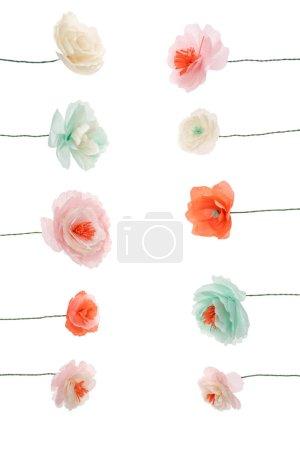 Decorative papercraft flowers