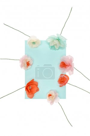 Decorative flowers with card