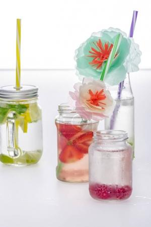 refreshing lemonades and flowers