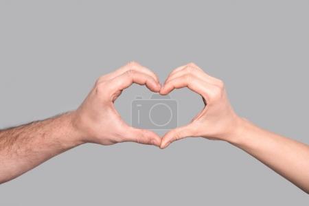 Heart sign of hands