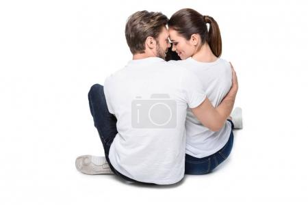 Young hugging couple