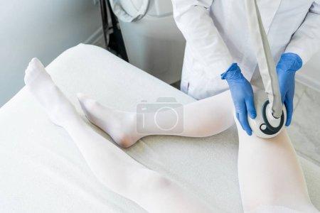 woman having procedure of lipomassage