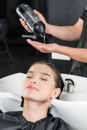 woman having hair wash