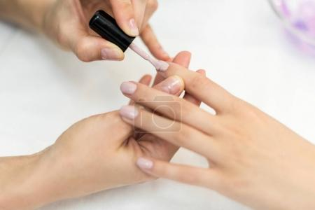 professional manicure procedure