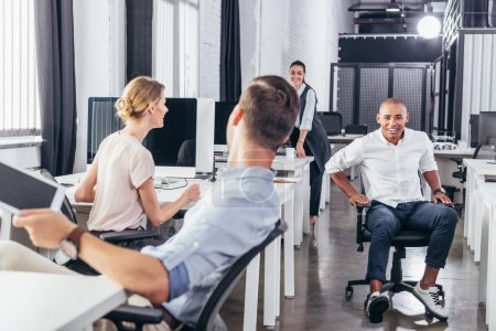multiethnic business people in office