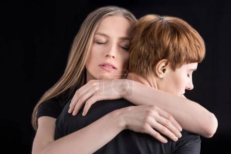 lesbian couple hugging
