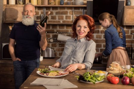smiling woman in kitchen